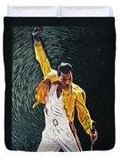 Freddie Mercury Duvet Cover by Taylan Soyturk