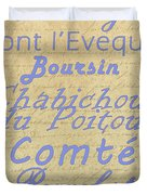 French Cheeses-1 Duvet Cover by Paulette B Wright