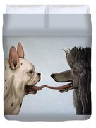 French Kiss Duvet Cover by Leah Saulnier The Painting Maniac