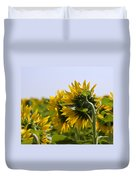 French Sunflowers Duvet Cover by Georgia Fowler
