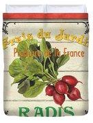 French Vegetable Sign 1 Duvet Cover by Debbie DeWitt