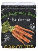 French Vegetables 4 Duvet Cover by Debbie DeWitt