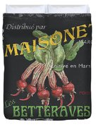 French Veggie Labels 2 Duvet Cover by Debbie DeWitt