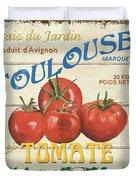 French Veggie Sign 3 Duvet Cover by Debbie DeWitt