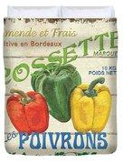 French Veggie Sign 4 Duvet Cover by Debbie DeWitt