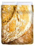 Fresh Baked Loaf Of Artisan Bread Duvet Cover by Edward Fielding
