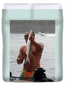 Fresh Catch Of Fish Castries St. Lucia Duvet Cover by Jason O Watson