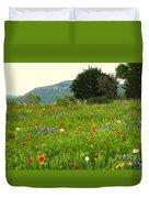 FRESH FLOWERS Duvet Cover by Joe Jake Pratt