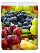 Fresh Fruits and Cheese Duvet Cover by Elena Elisseeva