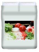 Fresh Vegetables Duvet Cover by Oscar Gutierrez
