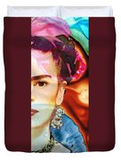 Frida Kahlo Art - Seeing Color Duvet Cover by Sharon Cummings