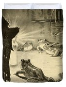 Frogs And Candle Duvet Cover by Philip Ralley
