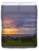Front Row Seats Duvet Cover by Mary Amerman