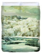 Frosted Trees Duvet Cover by Jonas Lie
