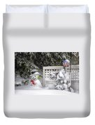 Frosty The Snow Man Duvet Cover by Thomas Woolworth