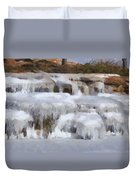 Frozen Falls Duvet Cover by Jeff Kolker
