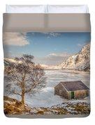 Frozen Lake Ogwen Duvet Cover by Adrian Evans