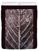 Frozen Leaf Duvet Cover by Anne Gilbert