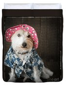 Funny Doggie Duvet Cover by Edward Fielding