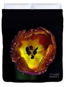 Furnace In A Tulip 2 Duvet Cover by Kaye Menner