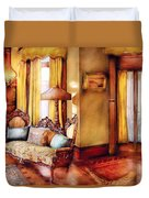 Furniture - Chair - The Queens Parlor Duvet Cover by Mike Savad