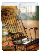 Furniture - Chair - The rocking chair Duvet Cover by Mike Savad