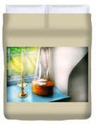 Furniture - Lamp - In The Window  Duvet Cover by Mike Savad