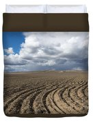 Furrows Before The Storm Duvet Cover by Mike  Dawson