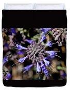 Fuzzy Purple 3 Duvet Cover by Kelley King