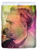 F.w. Nietzsche Duvet Cover by Taylan Soyturk
