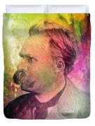 F.w. Nietzsche Duvet Cover by Taylan Apukovska