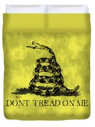 Gadsden Flag - Dont Tread On Me Duvet Cover by World Art Prints And Designs