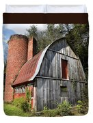 Gambrel-roofed Barn Duvet Cover by Paul Mashburn