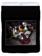 Game - Chess - It's Only A Game Duvet Cover by Mike Savad