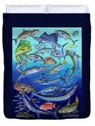 Gamefish Collage In0031 Duvet Cover by Carey Chen