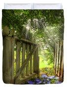 Garden Of Eden Duvet Cover by Debra and Dave Vanderlaan