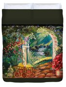 Garden Of Serenity Beyond Duvet Cover by Jenny Lee