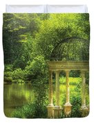 Garden - The Temple of Love Duvet Cover by Mike Savad