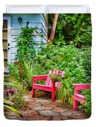Garden Treasures at Aunt Eden's by Diana Sainz Duvet Cover by Diana Sainz