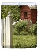 Garden's Entrance Duvet Cover by Margie Hurwich