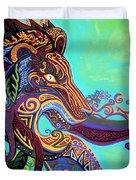 Gargoyle Lion 3 Duvet Cover by Genevieve Esson