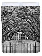 Gateway to the Old South bw Duvet Cover by Steve Harrington