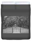 Gateway To The Old South Monochrome Duvet Cover by Steve Harrington
