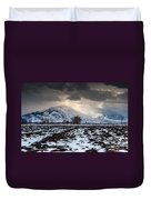 Gathering Winter Storm - Utah Valley Duvet Cover by Gary Whitton