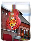 Gatlinburg Hard Rock Cafe Duvet Cover by Frozen in Time Fine Art Photography
