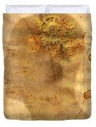 Gears In The Head Duvet Cover by Michal Boubin