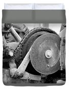 Gears Nuts And Bolts Duvet Cover by Jackie Farnsworth