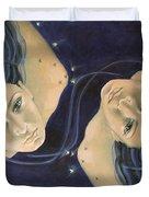Gemini from Zodiac series Duvet Cover by Dorina  Costras