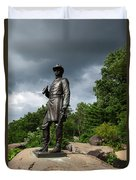 General K Warren Monument Gettysburg Duvet Cover by James Brunker
