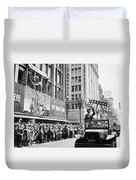 General Patton Ticker Tape Parade Duvet Cover by War Is Hell Store